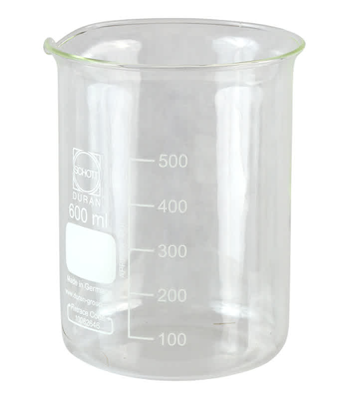 Glass Beaker 600 ml 20-2150