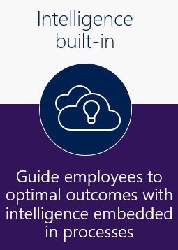 Intelligence built-in: guide employees to optimal outcomes with intelligence embedded in processes.