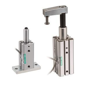 Rotary clamp cylinder (Single guide type)