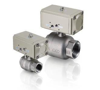 Air operated 2, 3-port ball valve (compact rotary valve)