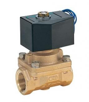 Pilot kick 2-port solenoid valve (General purpose valve)