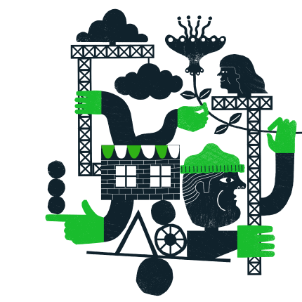 Mailchimp Open Commerce Illustration