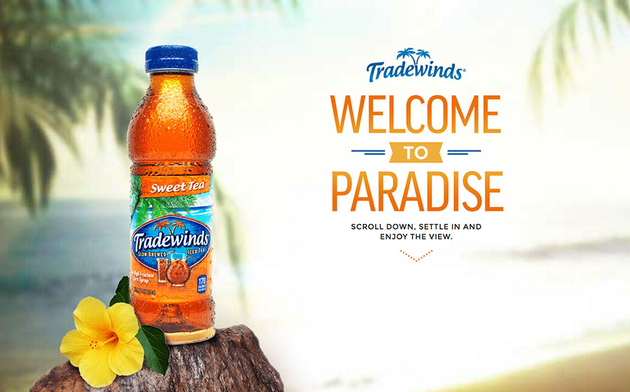 Springbox CPG Websites Tradewinds Tea Welcome To Paradise