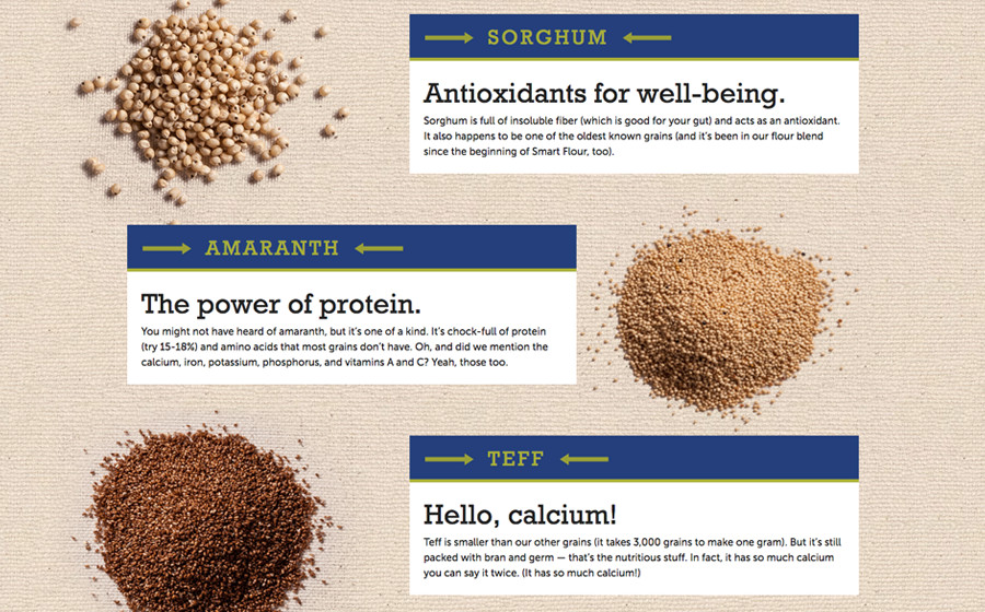 Springbox CPG Websites Smart Flour Antioxidants Protein Calcium