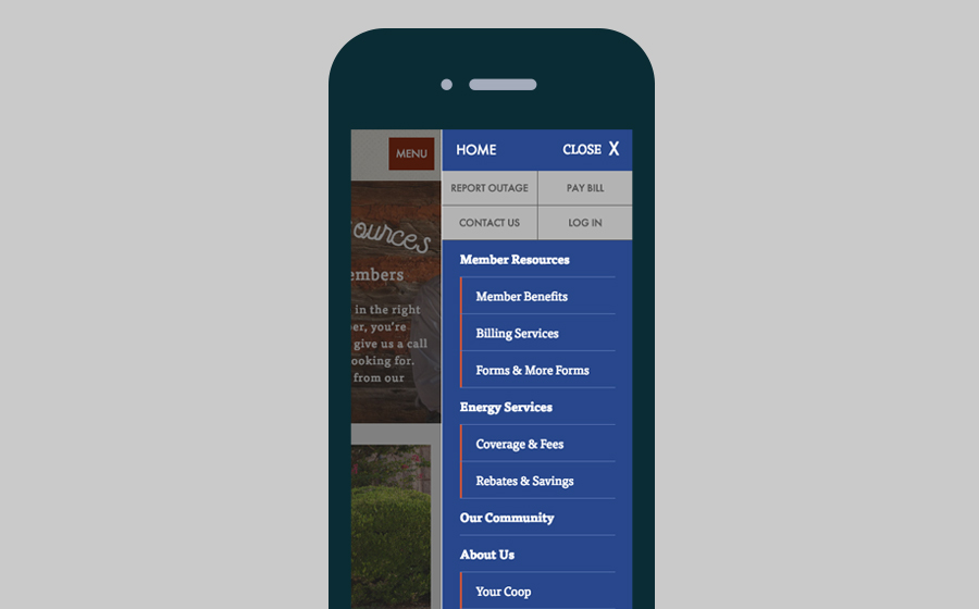 Springbox Company Websites Wise Electric Mobile Menu