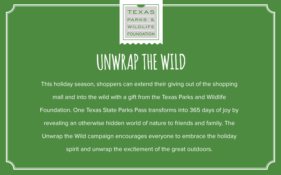 Springbox Concepting Execution Texas Parks & Wildlife Unwrap Statement