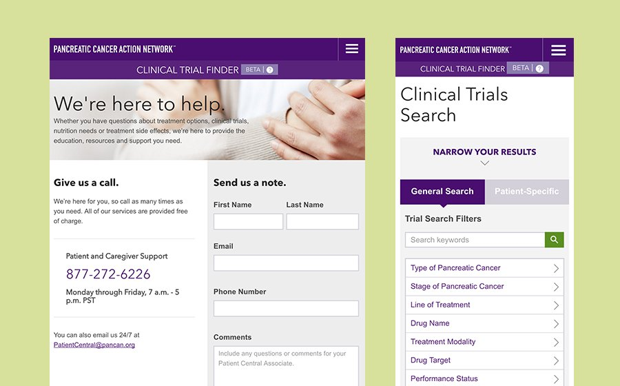 Springbox Pancreatic Action Network Clinical Trial Finder Contact General Search