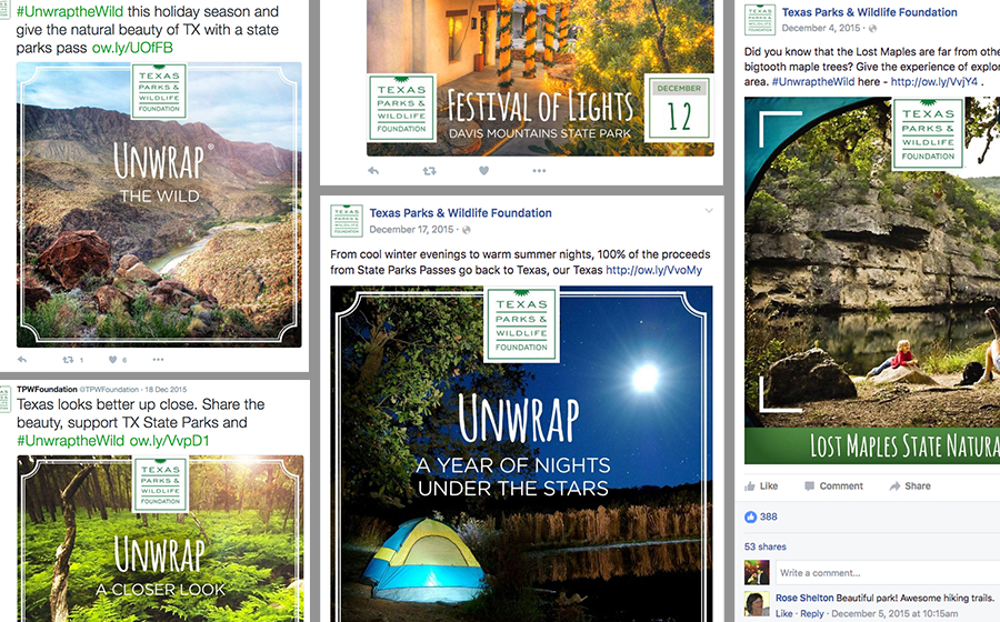 Springbox Concepting Execution Texas Parks & Wildlife Tweets
