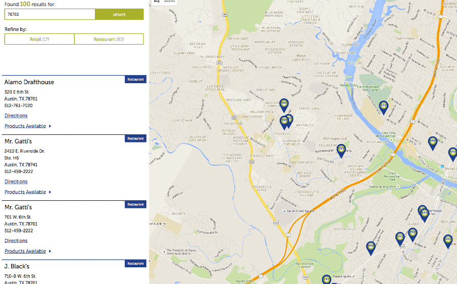 Springbox CPG Websites Smart Flour Map