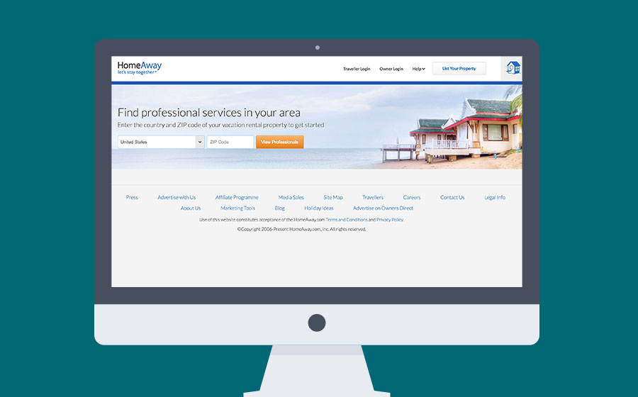 Springbox HomeAway Professional Service Search Home