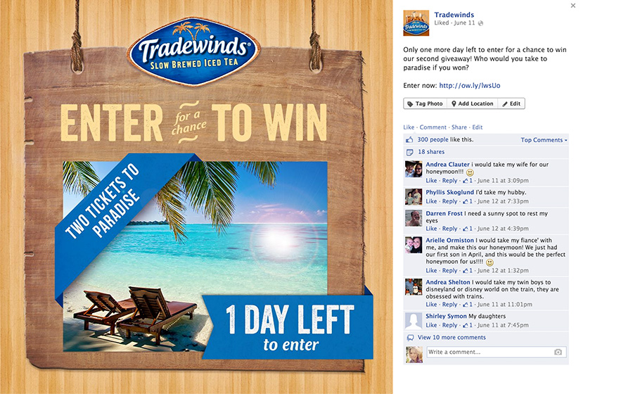 Springbox Concepting Execution Tradewinds Tea Facebook Post