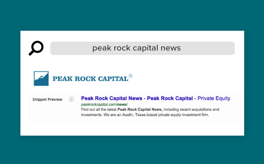 Springbox SEO Peak Rock Capital News Search