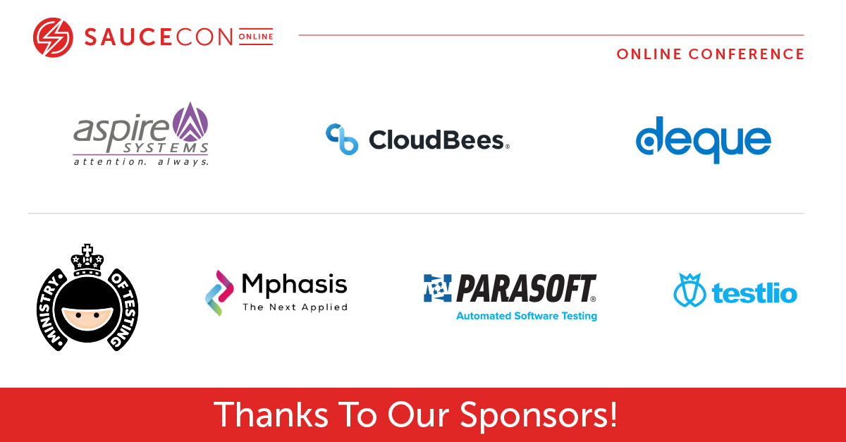 Thank you to our sponsors of SauceCon 2020