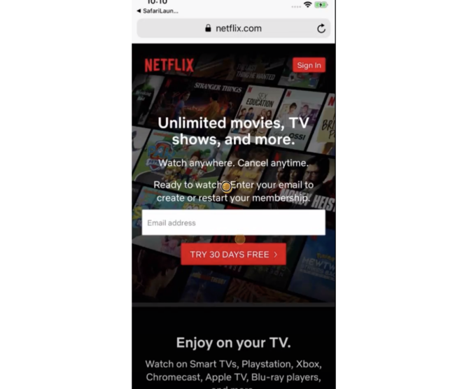 Nexflix blog example1