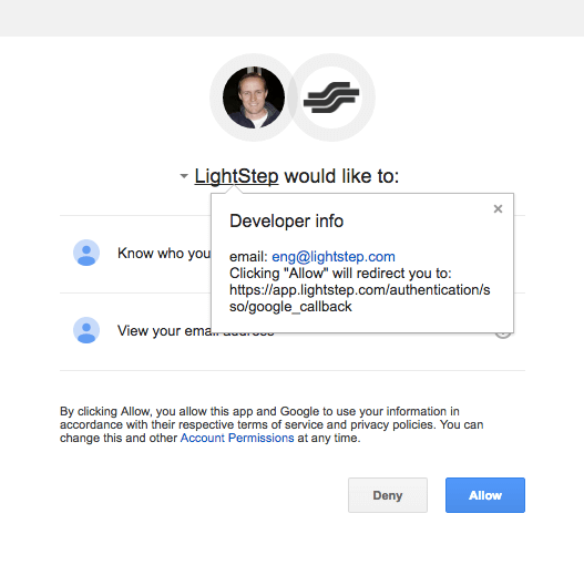 Google Authorization Detail