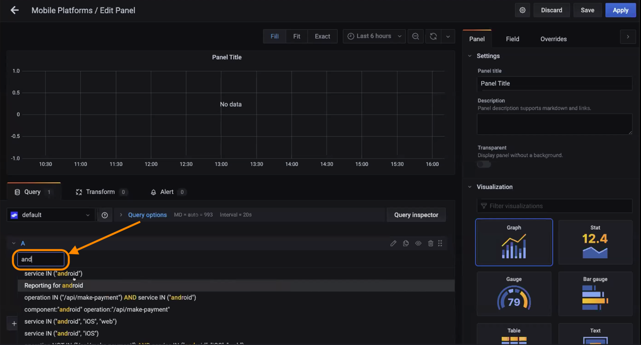 Grafana Editor with Lightstep