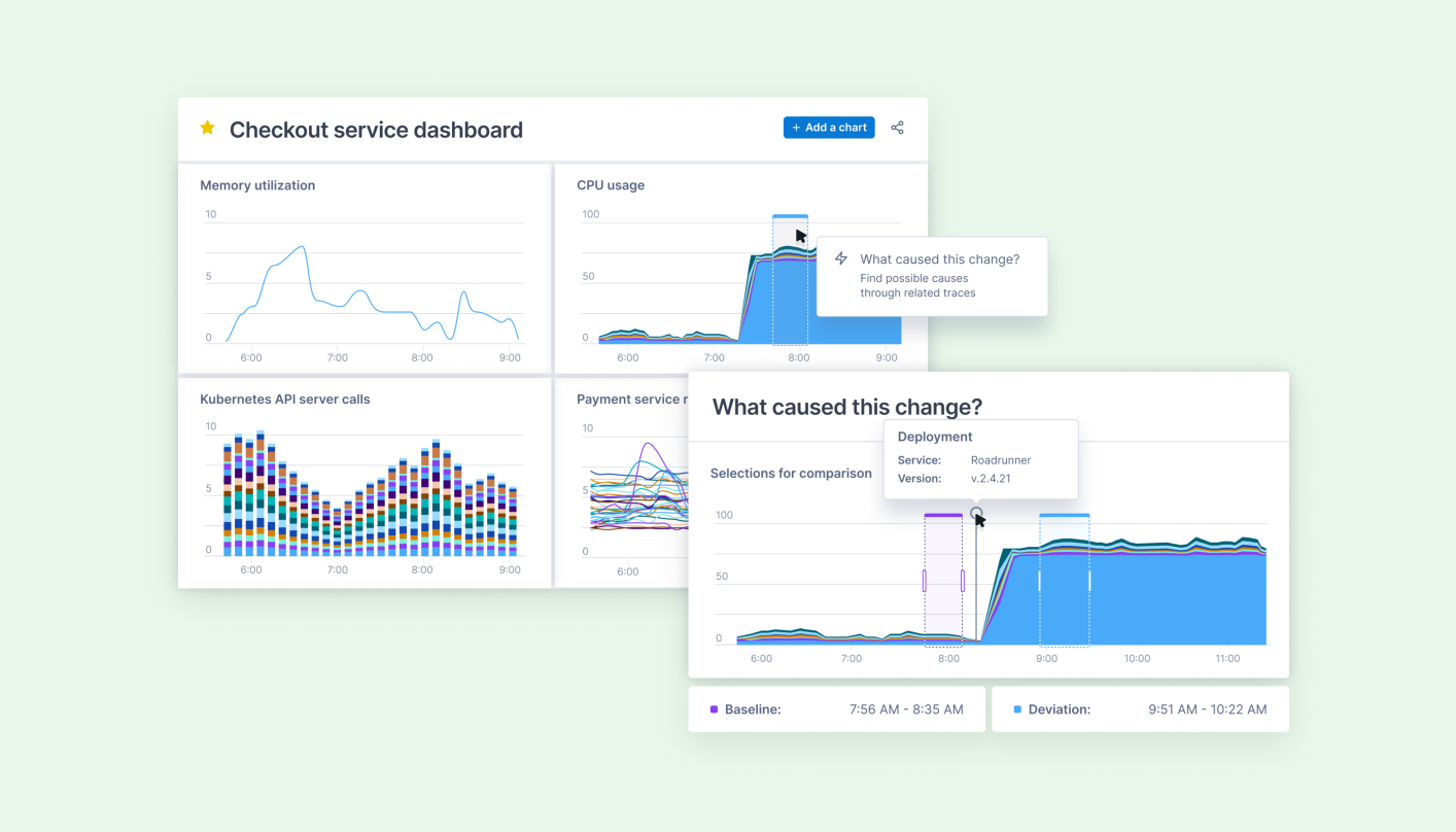 Announcing Change Intelligence, actionable Metrics dashboards and alerts, and a new approach for Observability