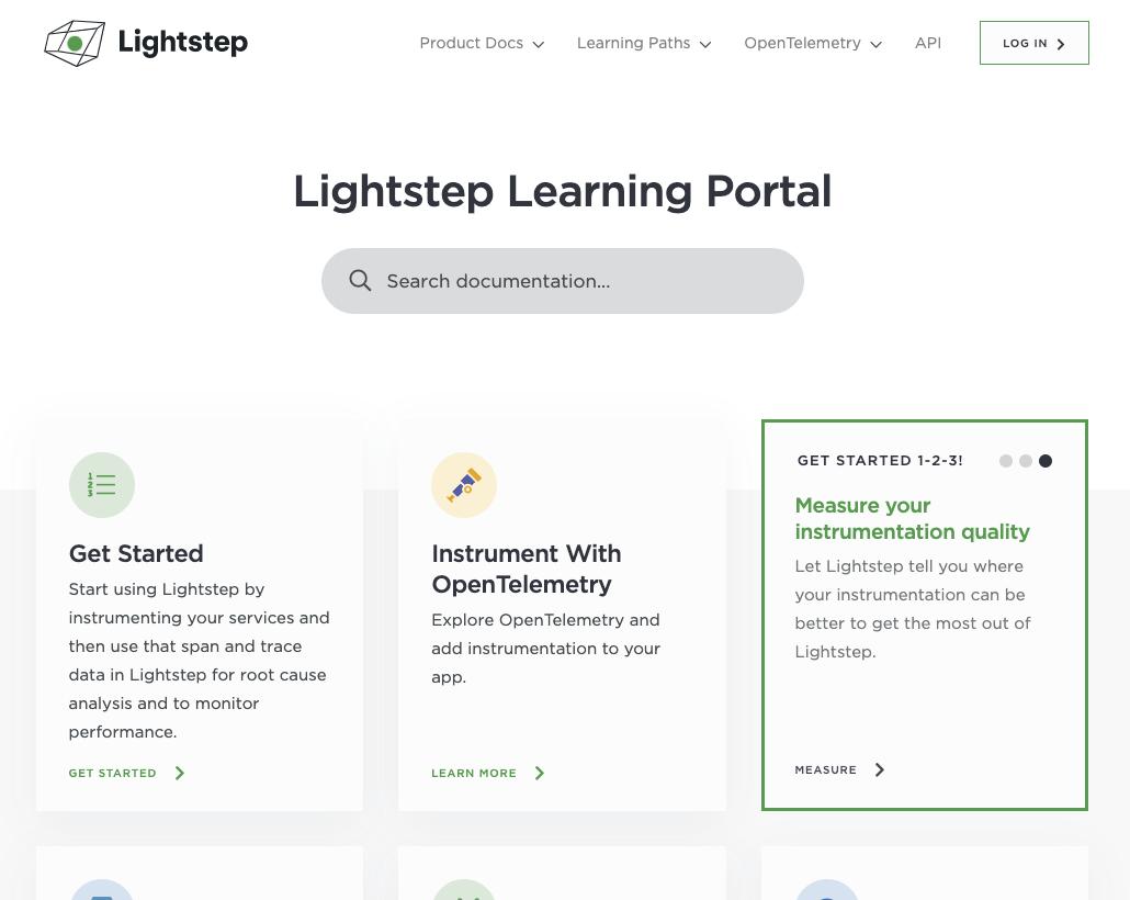 Lightstep Learning Portal