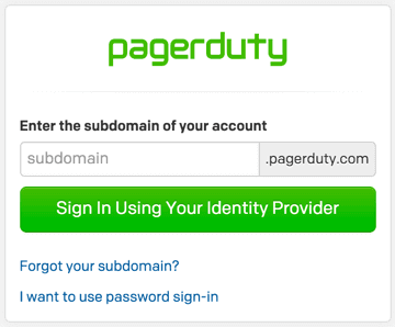 PagerDuty Login