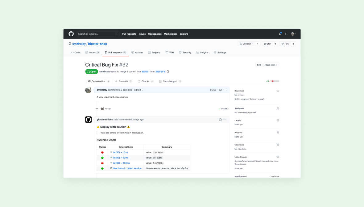 Bring observability to your GitHub workflows with Lightstep