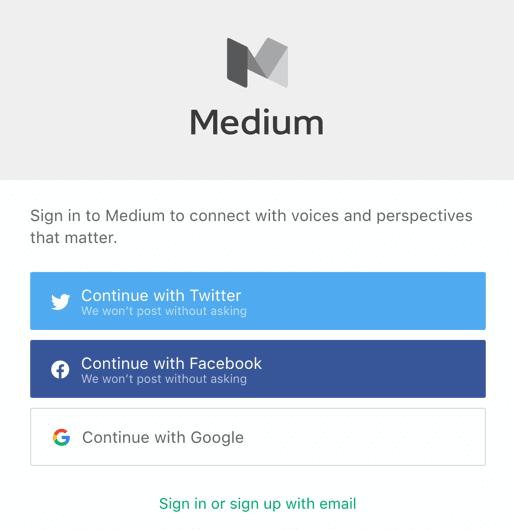 Medium Login