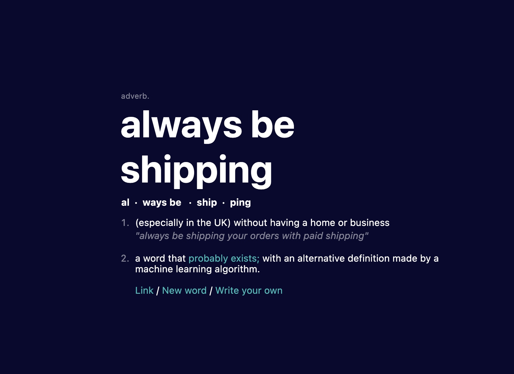 always be shipping