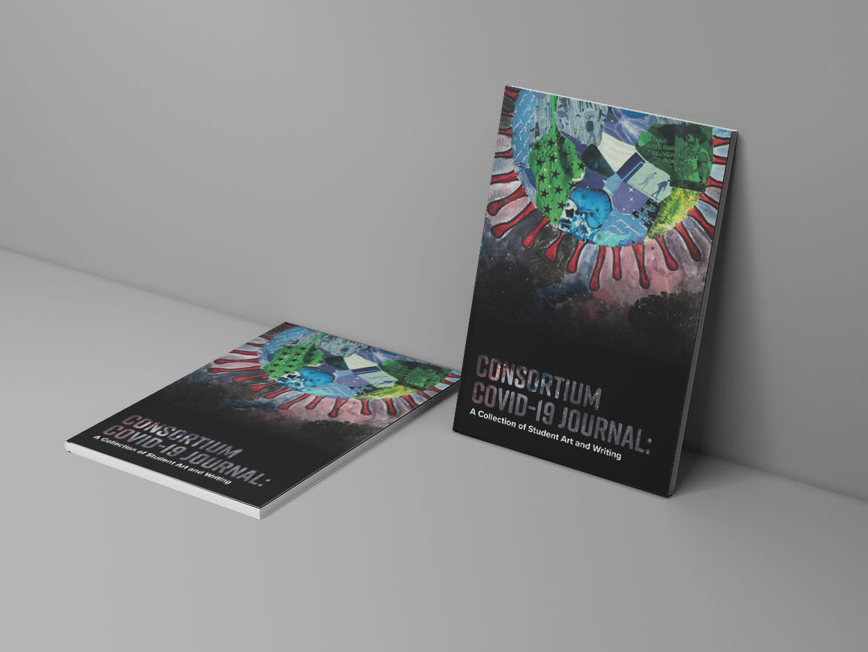 Magazine cover mock up of COVID 19 Journal