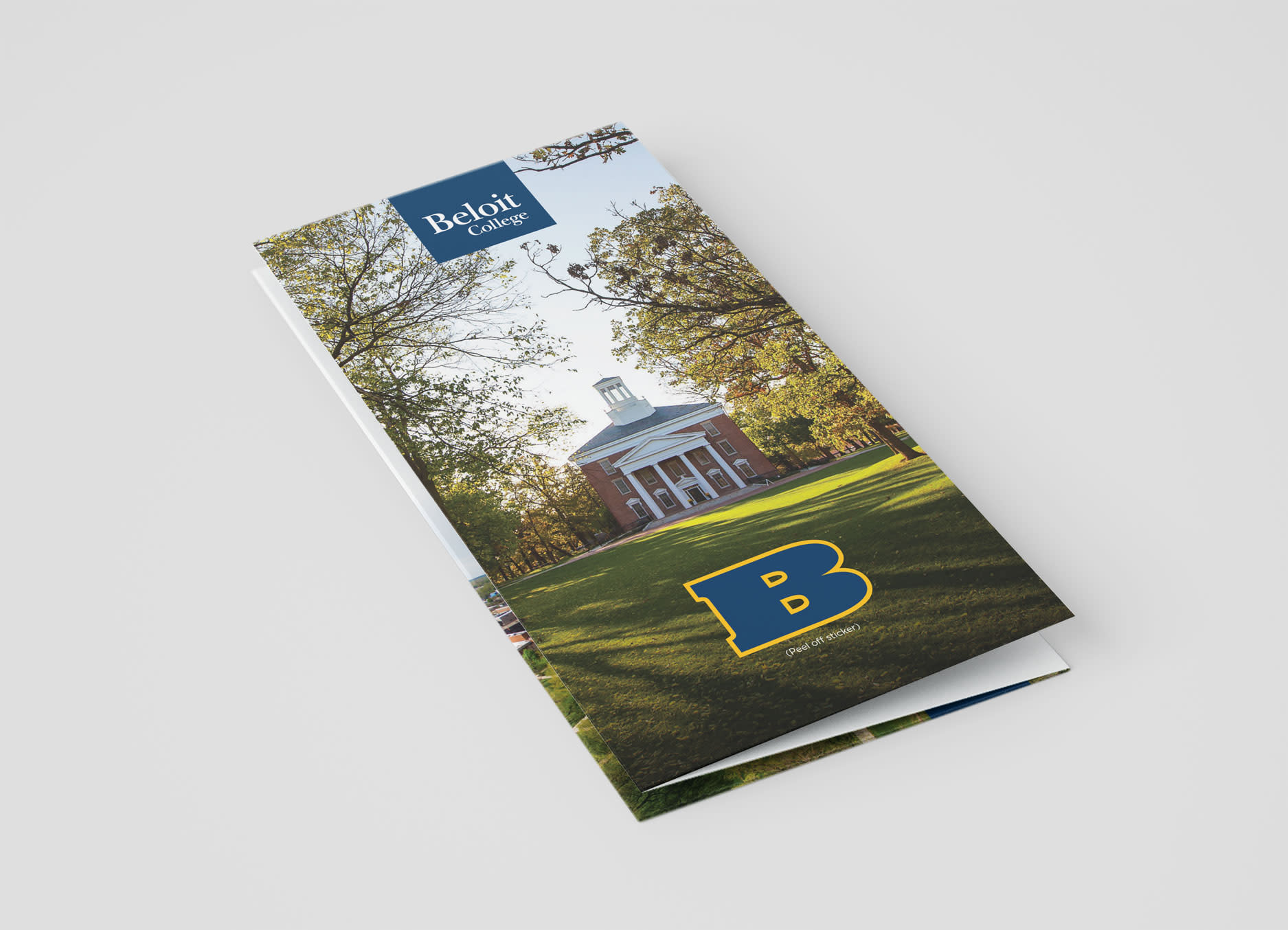 Beloit College Admissions Brochure front side