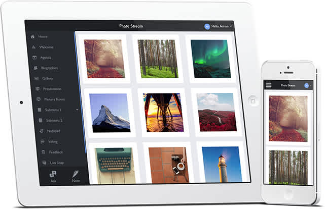 Photo stream as shown on iPad and iPhone