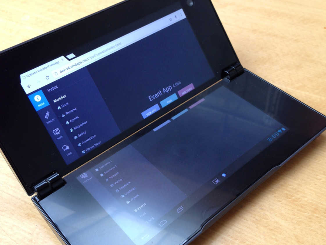 Random weird Android device with foldable screen