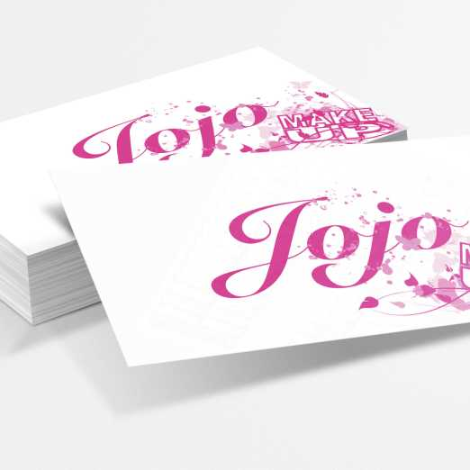 Business cards for small Swedish makeup studio.