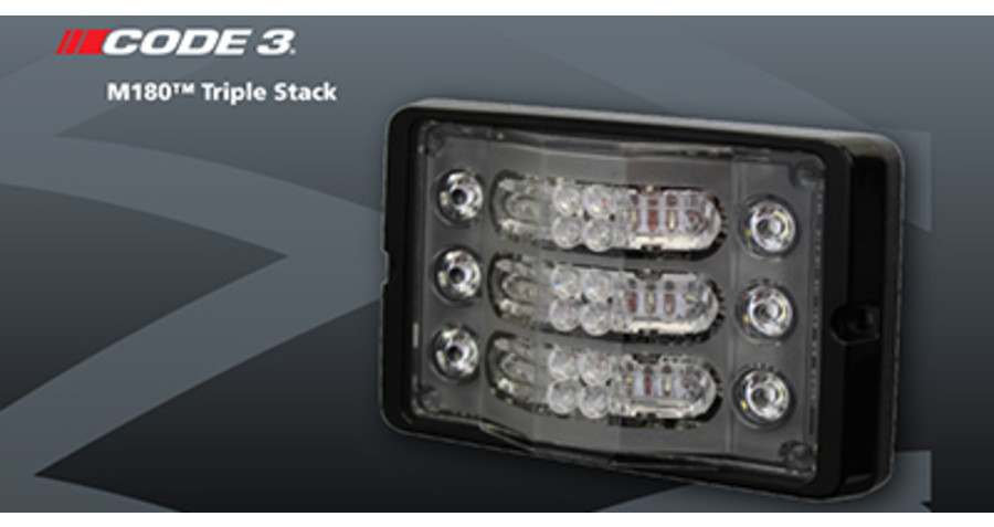 Code 3® Announces New Multipurpose M180™ Triple Stack