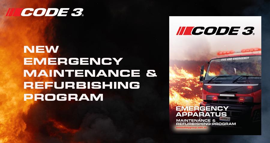 Code 3 Launches Emergency Apparatus Maintenance & Refurbishing Program