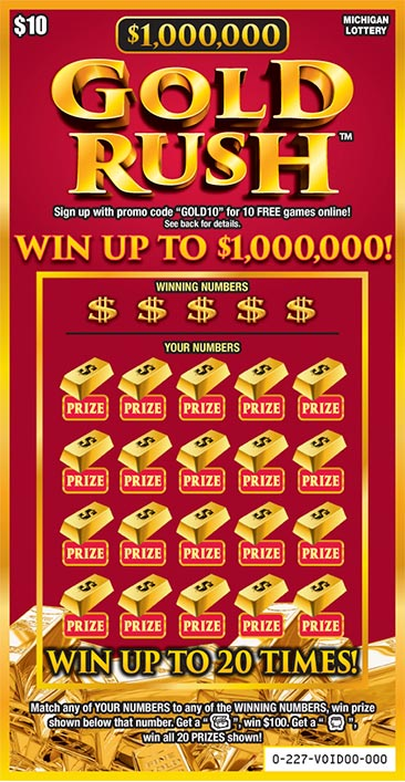 $1,000,000 Gold Rush | Michigan Lottery