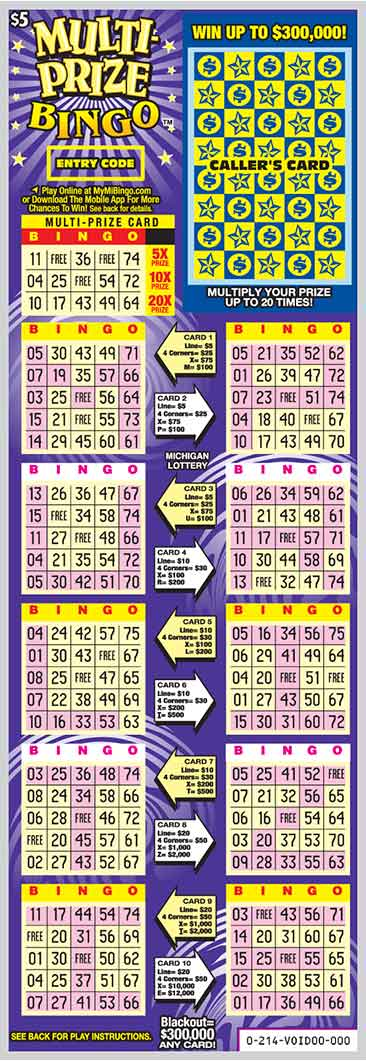 Multi-Prize Bingo | Michigan Lottery