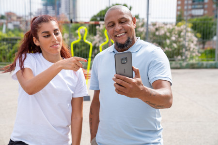 019 - Football legend Roberto Carlos and freestyler Lisa Zimouche put the new life-proof 5G smartphone, the Nokia XR20, through its toughest test.jpg