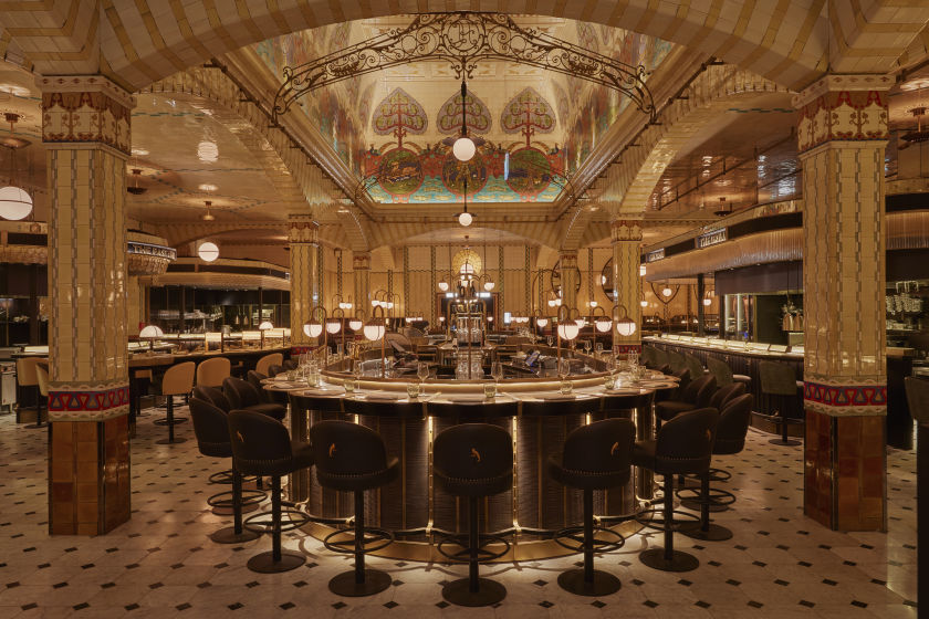 NEW CENTRAL COUNTER, HARRODS DINING HALL.