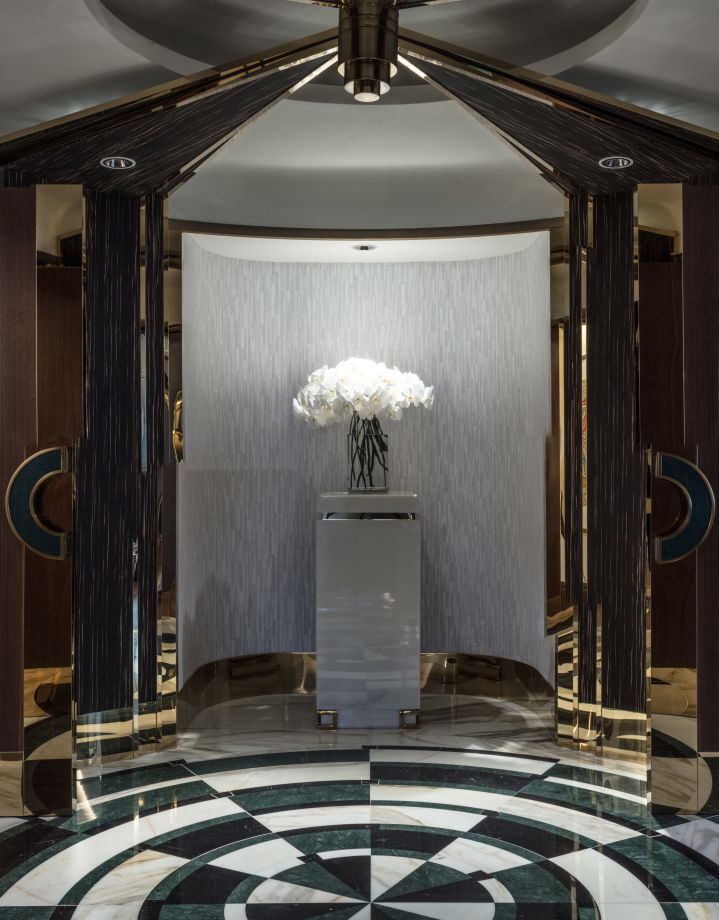 The Presidential Suite's entrance lobby.