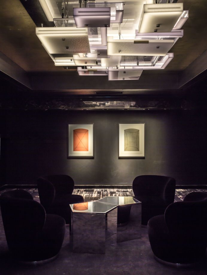 The M Contemporary gallery's private lounge.