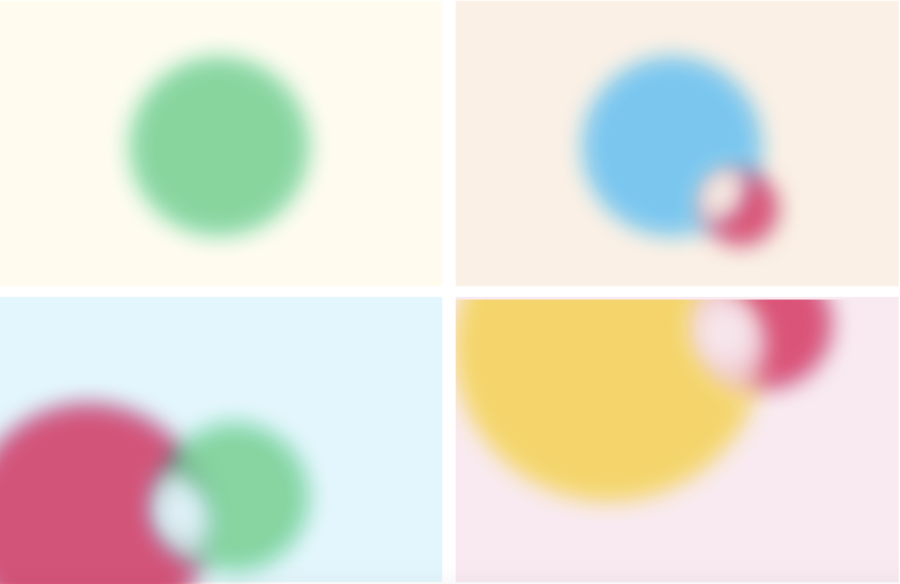 Color orbs in the Front homepage header