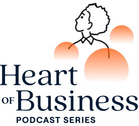 Logo of the Heart of Business podcast series