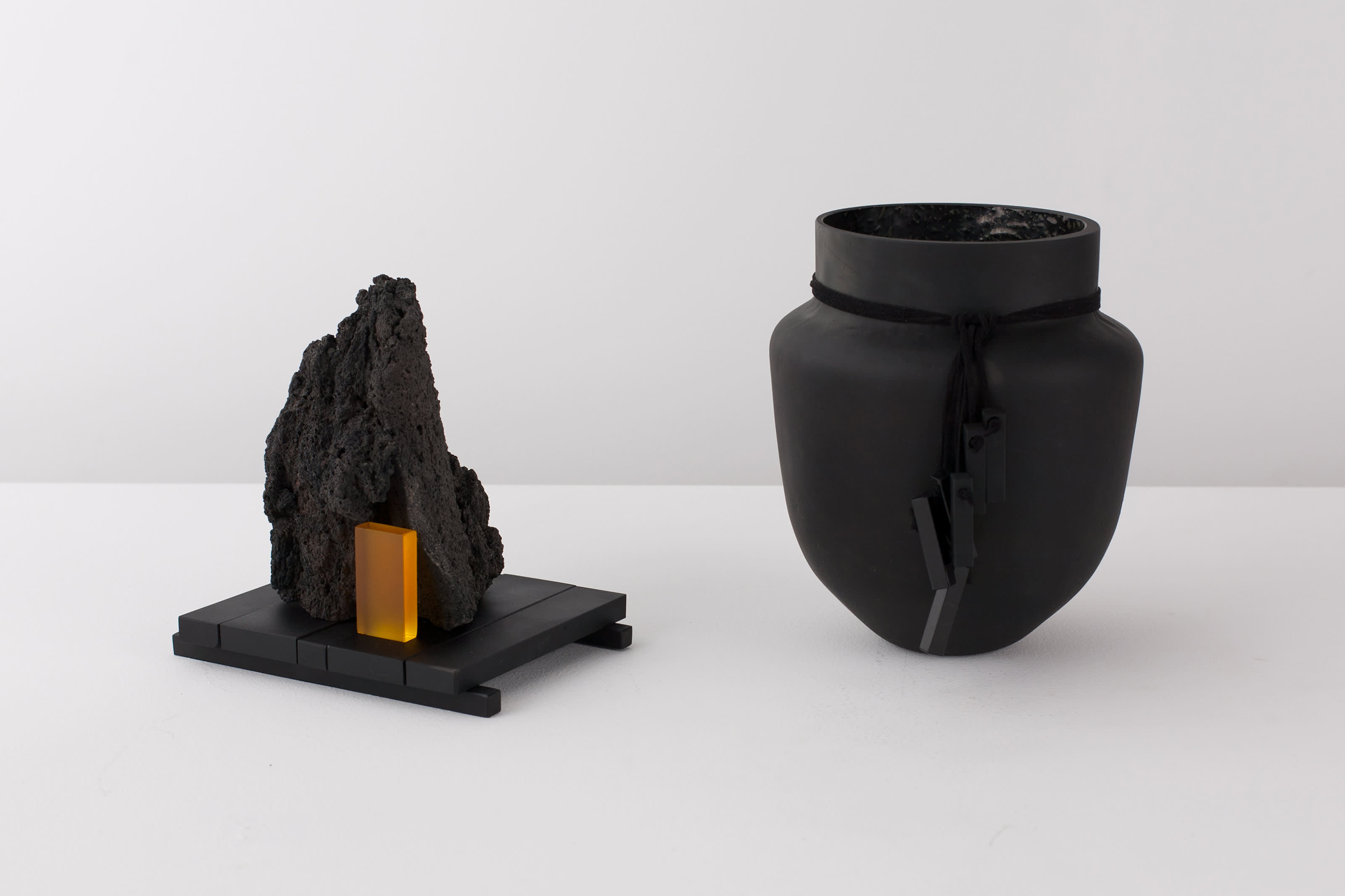 Vessel and sculptural works from the De Natura Fossilium series.