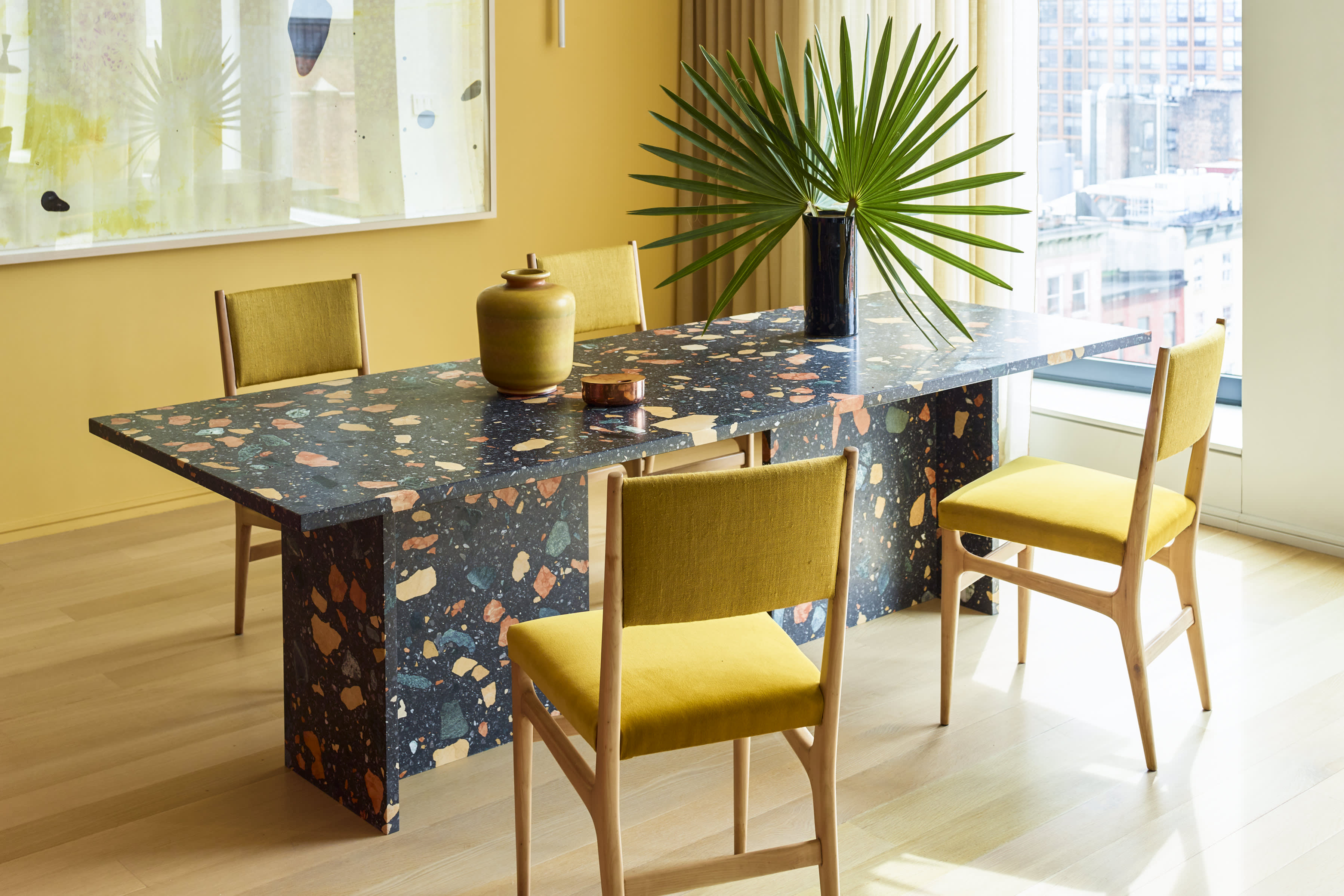 Marmoreal Dining Table in a NYC project designed by Neal Beckstedt - Photo by Eric Piasecki / OTTO