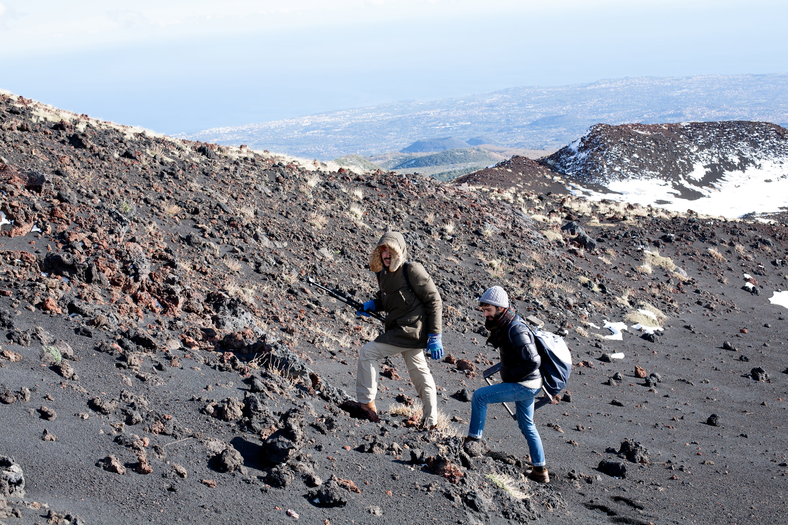 Simone Farresin and Andrea Trimarchi explore the Etna landscape.