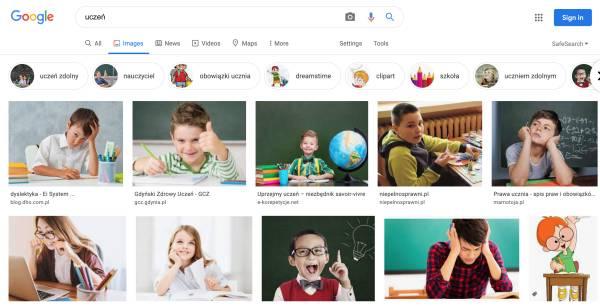 Uczeń wyszukiwarka
