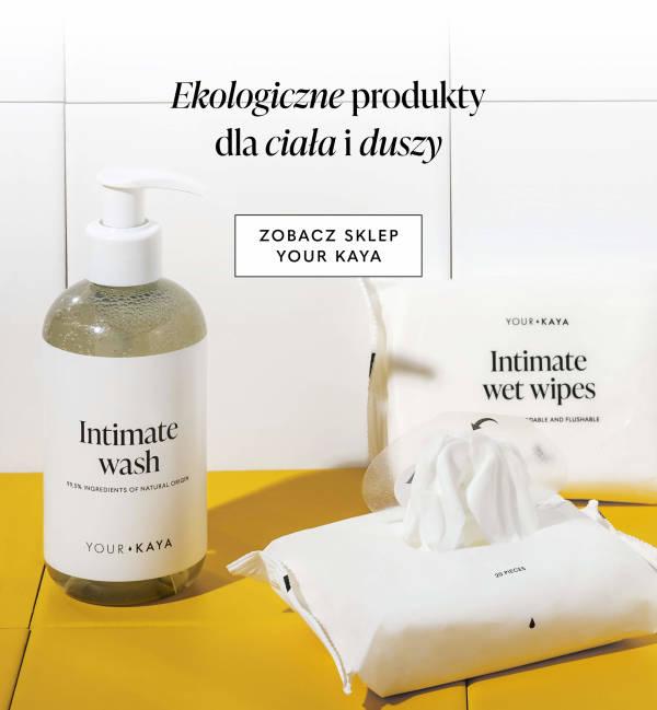 Produkty Your KAYA w biało-pomarańczowej łazience