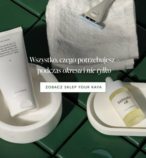 Produkty Your KAYA w zielonej łazience