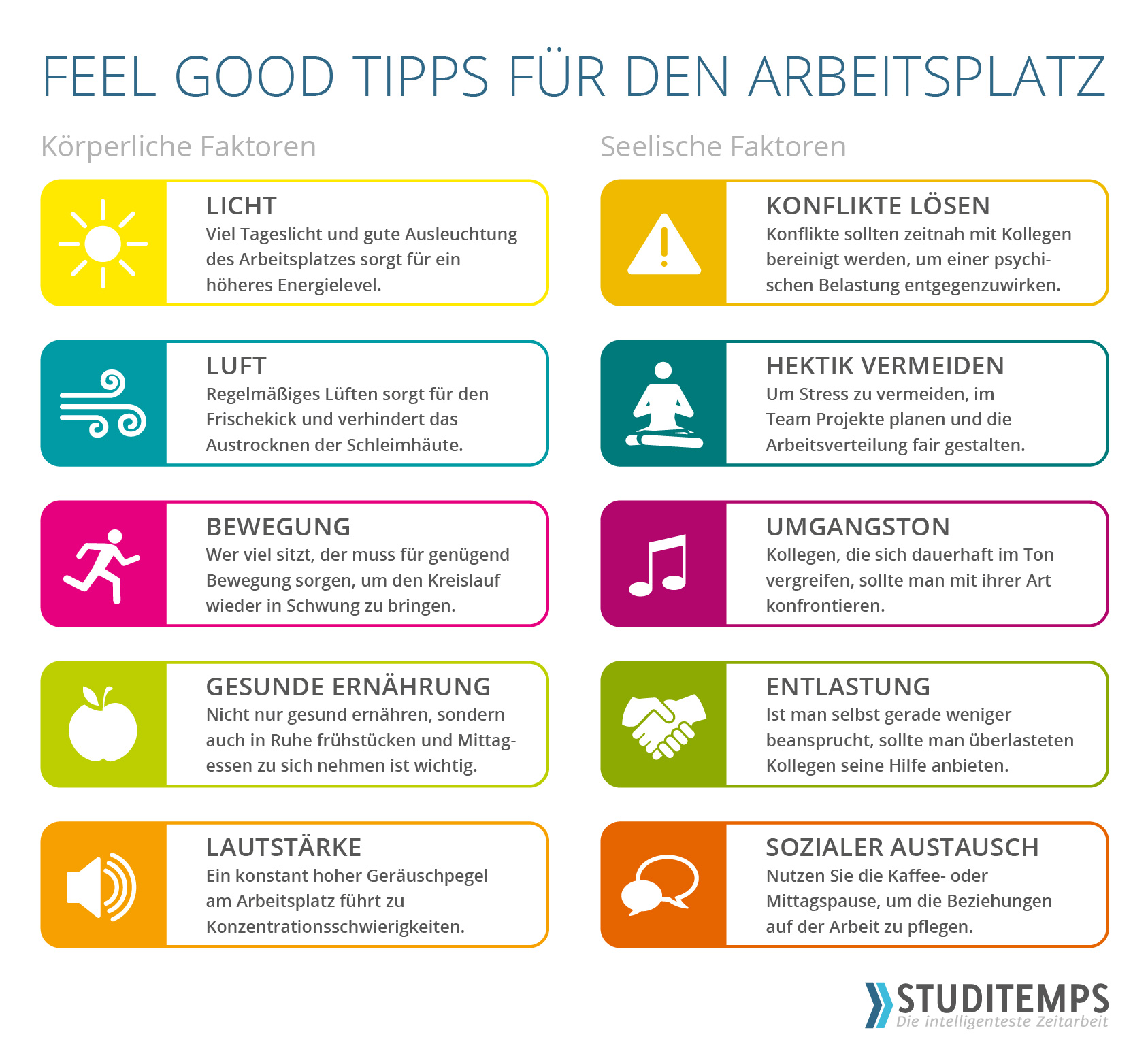 Feel Good Tipps für den Arbeitsplatz