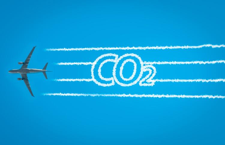 CO2-Emissionen-Flugzeug