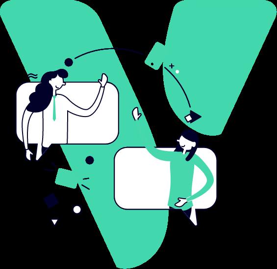 Illustration einer Beratung bei jobvalley